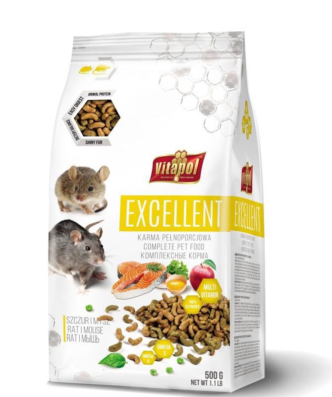 VITAPOL Excellent - karma pełnoporcjowa dla szczura i myszy 500g