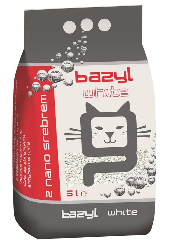 BAZYL White Ag+ - biały żwirek ze srebrem, zbrylający