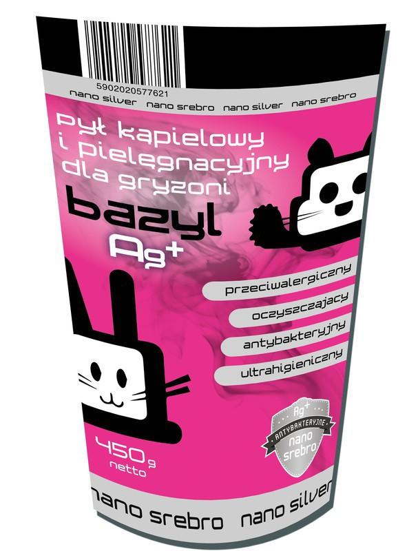 BAZYL Pył kąpielowy i pielęgnacyjny dla gryzoni Ag+ 450g