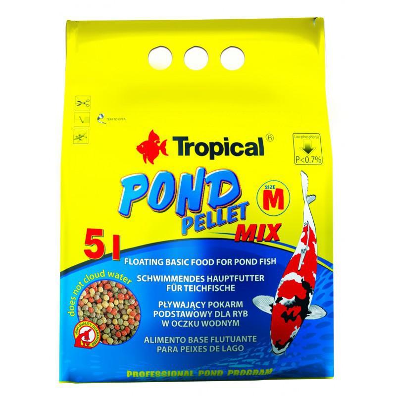 TROPICAL Pond Pellet Mix Size M - wieloskładnikowy pokarm w formie pływającego pelletu w worku