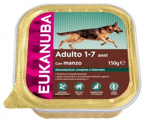 EUKANUBA Adult Wołowina tacka 150G - mokra karma dla psa dorosłego