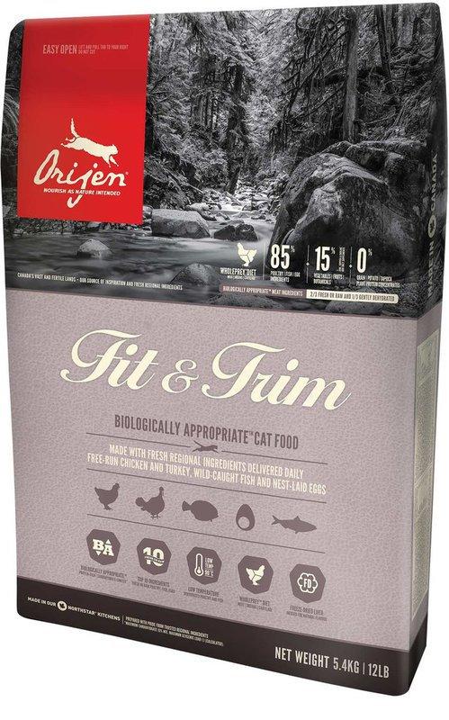 ORIJEN Fit & Trim - Sucha karma dla kotów z nadwagą i małą aktywnością fizyczną