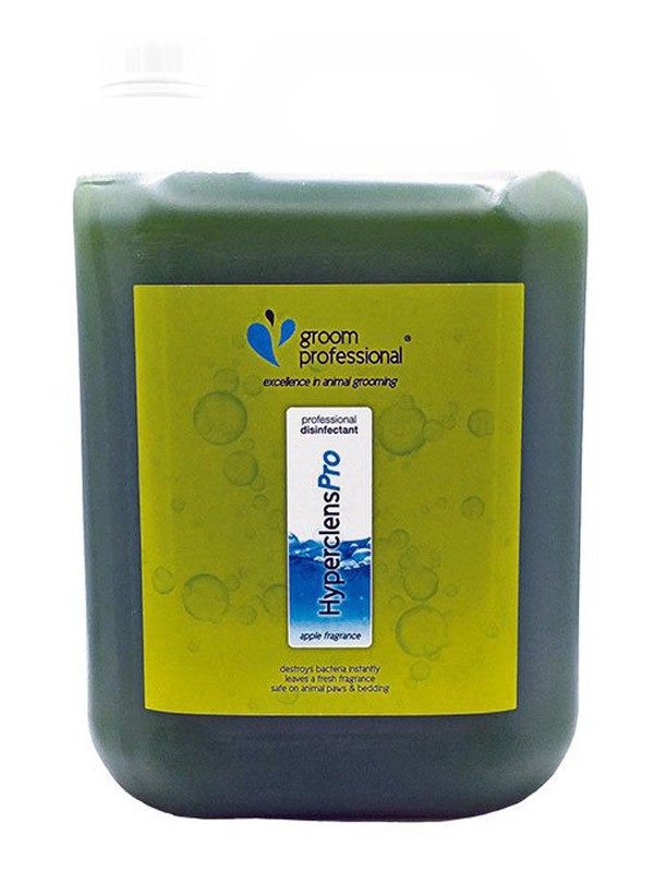 GROOM PROFESSIONAL Hyperclens Pro Formula Apple - środek o zapachu jabłka do czyszczenia i dezynfekcji sprzętu i pomieszczeń 5l