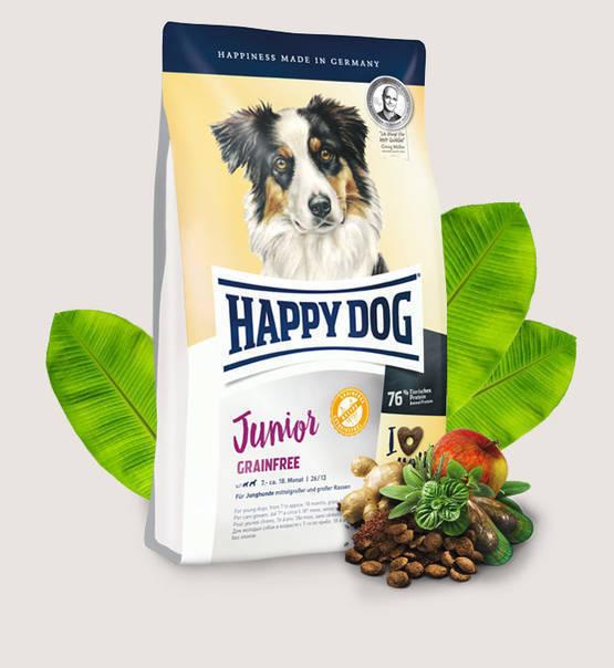 happy dog junior grainfree karma pe nowarto ciowa dla m odych ps w od 7 miesi ca dla ps w. Black Bedroom Furniture Sets. Home Design Ideas