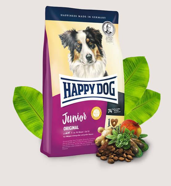 HAPPY DOG Junior Original - sucha karma dla młodych psów od 7 miesiąca życia