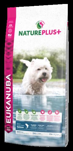 EUKANUBA Nature Plus+ Adult Small Breed - karma dla psa bogata w świeżo mrożonego łososia