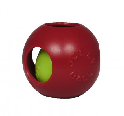 JOLLY PETS Piłka w piłce - zabawka dla psa w kolorze czerwonym