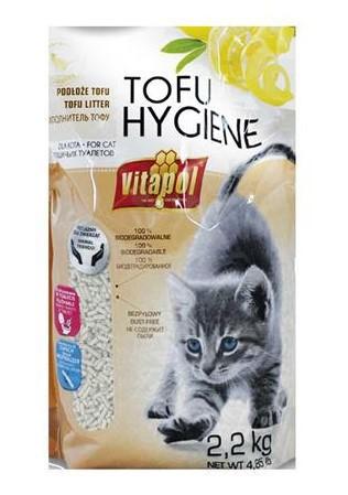 VITAPOL Podłoże Tofu Hygiene o zapachu cytrynowym dla kota 5l