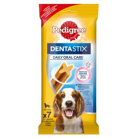 Pedigree Denta Stix Medium - patyczki czyszczące zęby dla psów ras średnich powyżej 10kg wagi, 6sztuk 180g