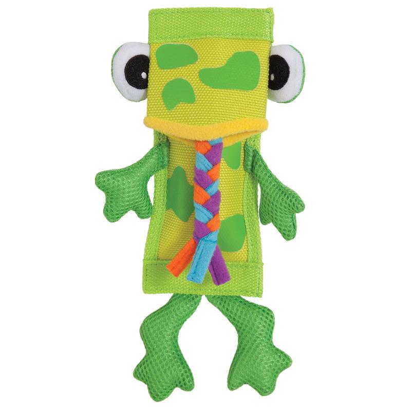 ZOOBILEE Firehose Frog Toy- zabawka dla psa