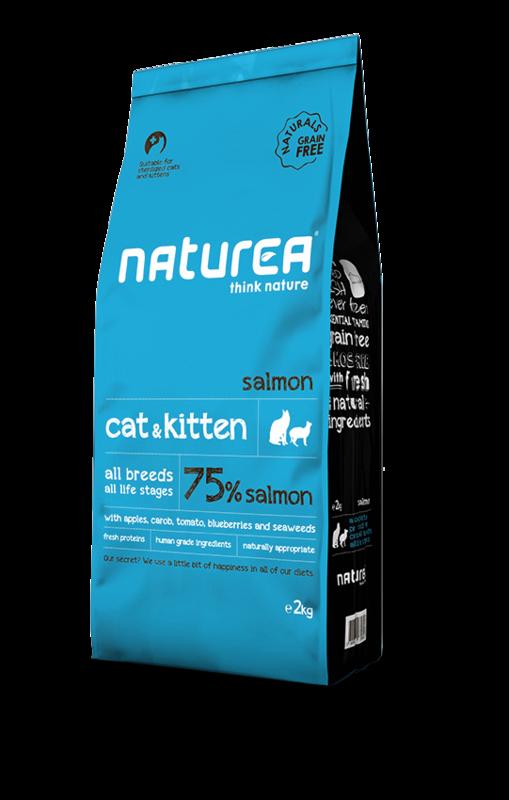 NATUREA Naturals Cat and Kitten Łosoś - hipoalergiczna karma dla kotów