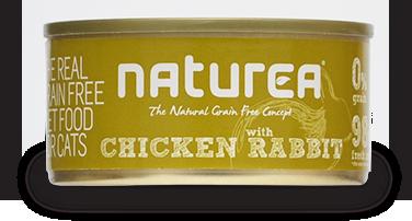 NATUREA Grainfree Kurczak i Królik - bezzbożowa mokra karma dla kotów 80 g