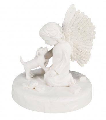 TRIXIE Rzeźba pamiątkowa Pies i Anioł w kolorze białym