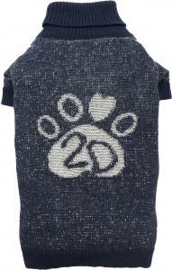 DOGGYDOLLY sweter z motywem łapki, ciemnogranatowy - dla małych psów