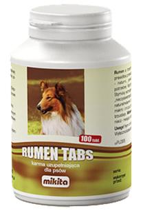 MIKITA Rumen Tabs 100tab. - preparat dla psów z wyjałowionym przewodem pokarmowym