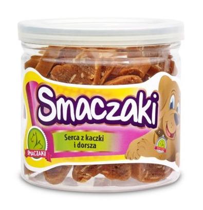 SMACZAKI Serca z kaczki i dorsza - przysmak dla psa 70g