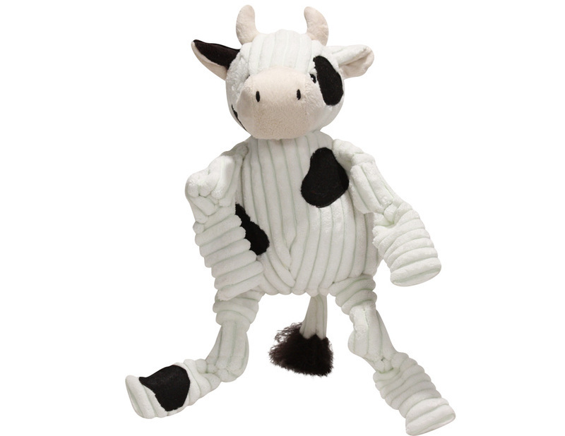 HUGGLE HOUNDS – pluszowa zabawka z piszczałkami dla psa, krowa