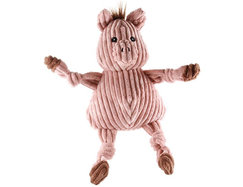 HUGGLE HOUNDS – pluszowa zabawka z piszczałkami dla psa, świnka