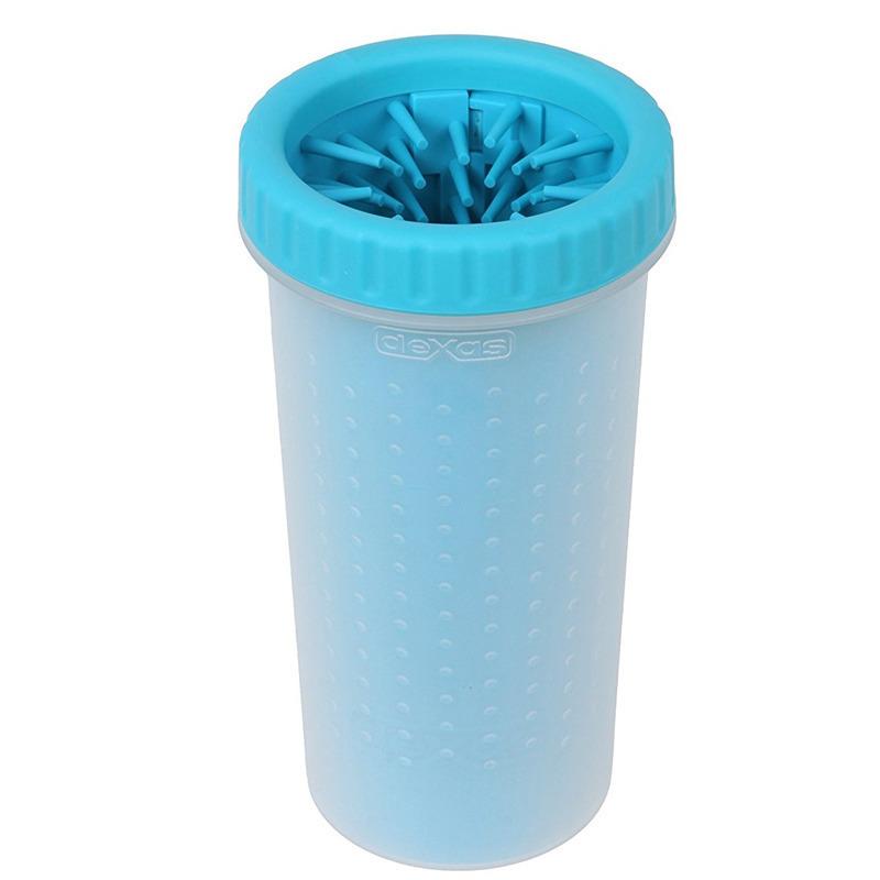 Dexas Mudbuster Dog Paw Cleaner - wygodny w użyciu, silikonowy czyścik do łap, kolor turkusowy