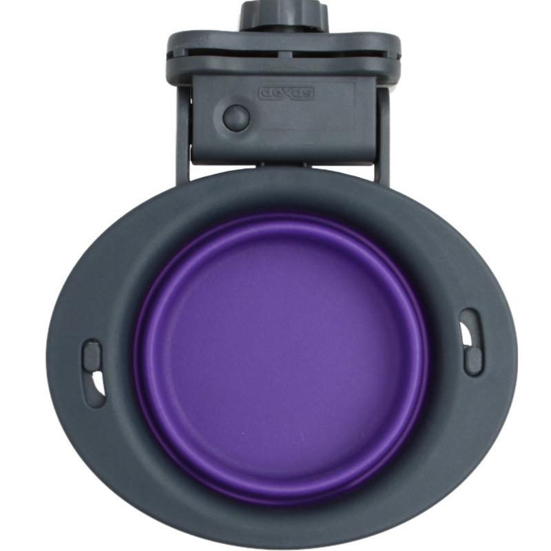 DEXAS Collapsible Kennel Bowl - składana, silikonowa miska do klatki, fioletowa 240 ml