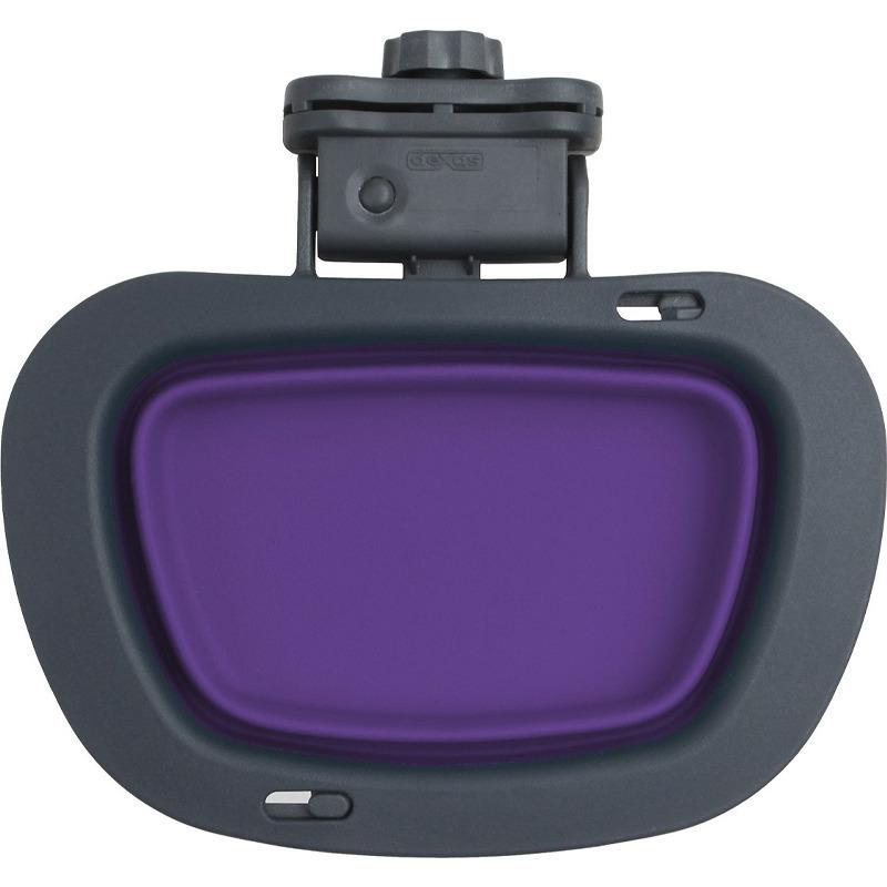 DEXAS Collapsible Kennel Bowl - składana, silikonowa miska do klatki, fioletowa 590 ml