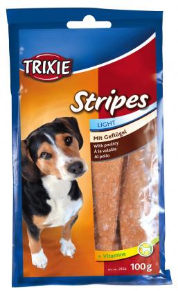 TRIXIE Przysmak Stripes drobiowe dla psów 100g