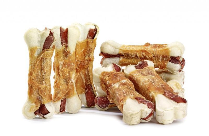 SMACZAKI Kość prasowana wołowo-wieprzowa z kurczakiem - przysmaki dla psa, 500g