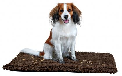 TRIXIE Mata absorbująca kurz dla psa 80 x 55 cm brązowa
