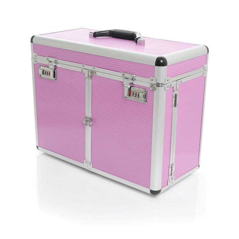 Activeshop - kufer groomerski, średni, różowy