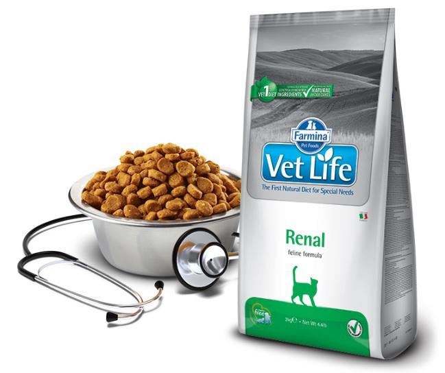 FARMINA Vet Life Renal dietetyczna karma dla kotów z przewlekłą lub ostrą niewydolności nerek 400g i 2kg