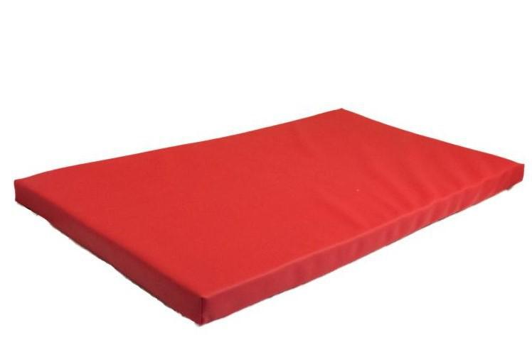 SANDIPETS Materac Dewon dla psa w kolorze czerwonym