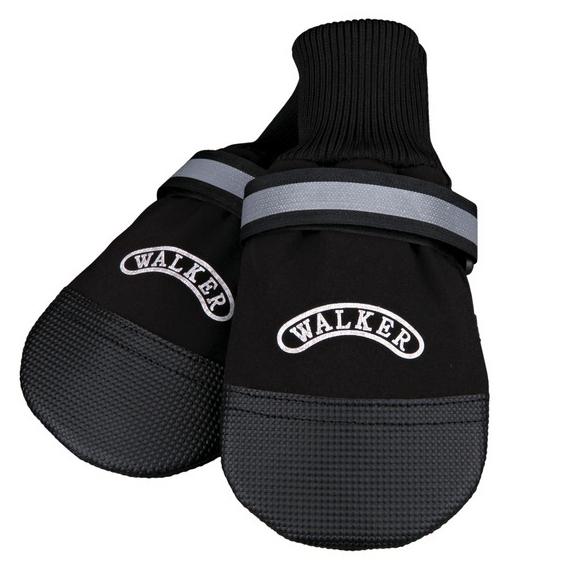 TRIXIE Walker Care Comfort - buty dla psa z odblaskowym rzepem i ściągaczem z tkaniny, 2 sztuki