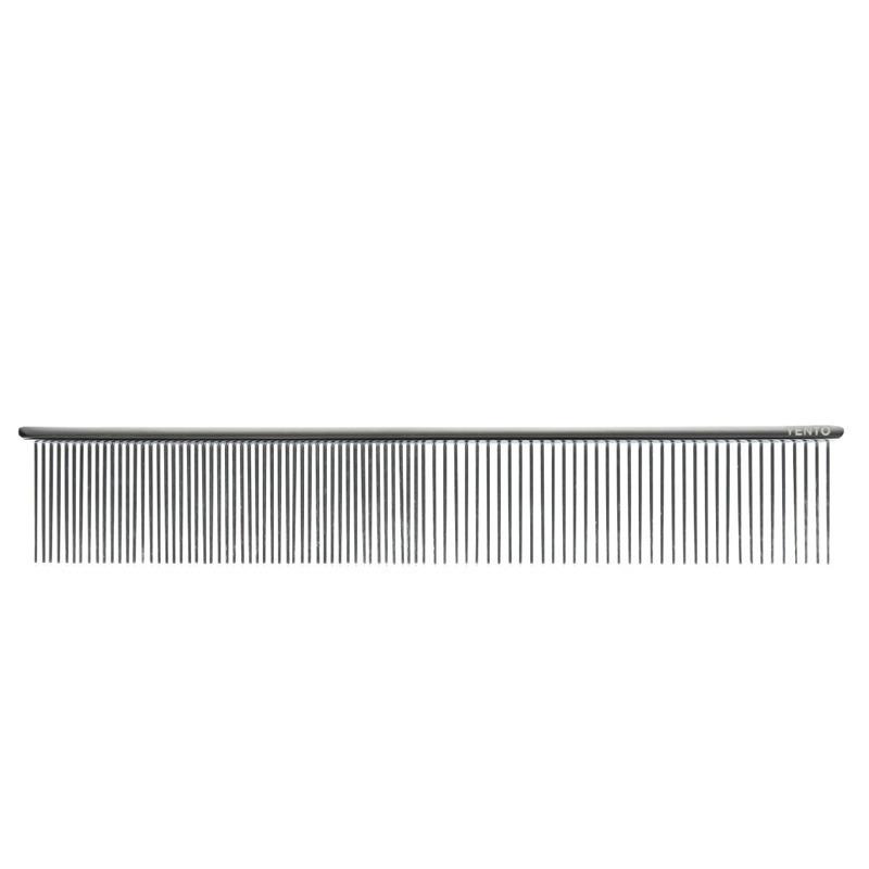 YENTO Scissoring Comb - profesjonalny, metalowy grzebień do oddzielania pasm włosów, ułatwiający strzyżenie, 19 cm