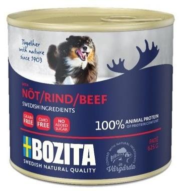 BOZITA mokra karma z wołowina dla psa, puszka 625g