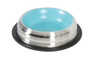ZOLUX Merenda - stalowa miska z kolorowym wnętrzem, niebieska