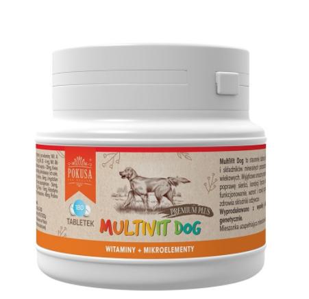 POKUSA MultiVit Dog - Naturalne witaminy i minerały dla psa, 130g