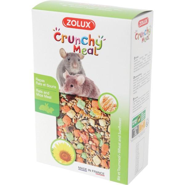 ZOLUX Crunchy Meal - Pełnoporcjowa karma dla szczura i myszy 800 g