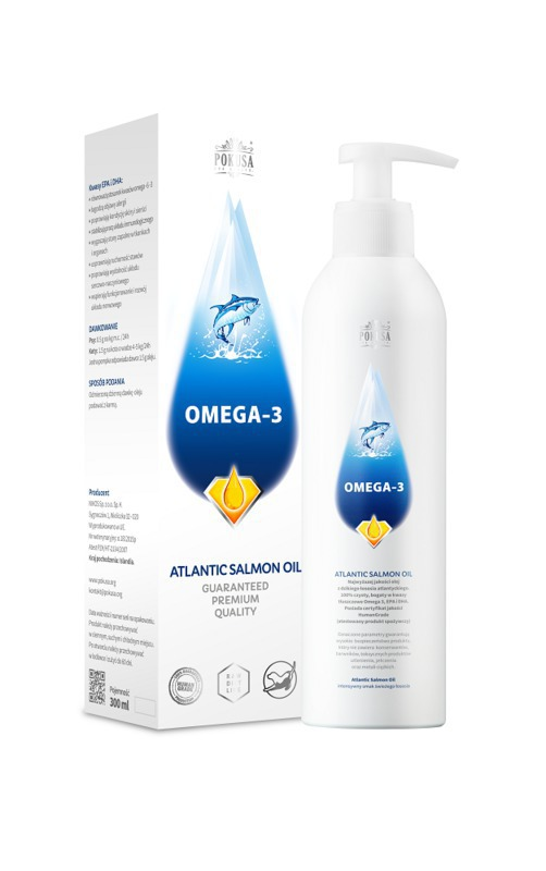 POKUSA Atlantic Salmon oil olej z łososia 300ml i 1000ml