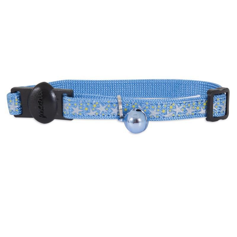 PETMATE Obroża regulowana Stars Blue dla kota w kolorze niebieskim