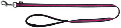 TRIXIE Smycz Fusion - smycz dla psa w kolorze czarno-różowym