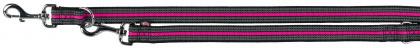 TRIXIE Smycz regulowana Fusion - smycz regulowana dla psa w kolorze czarno-różowym