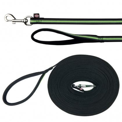 TRIXIE Smycz treningowa Fusion dla psa w kolorze czarno-zielonym