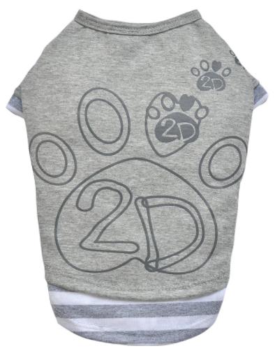 DOGGYDOLLY Koszulka dla psa z nadrukiem w szarym kolorze