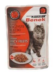 BENEK Filety w sosie z tuńczykiem - mokra karma dla kotów 85g