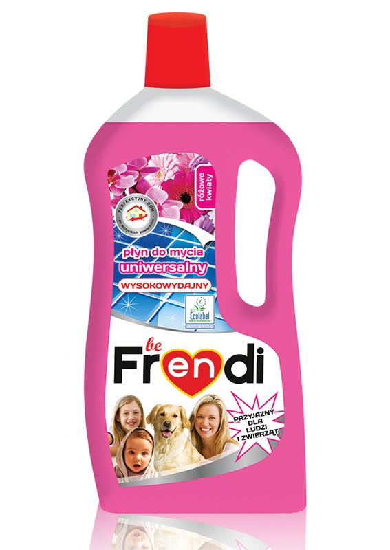 beFRENDI Uniwersalny płyn do mycia podłóg, zapach Różowe kwiaty 1L