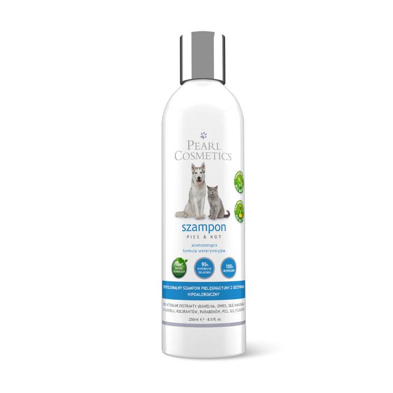 Pearl Cosmetics - pielęgnacyjny szampon dla psów i kotów z odżywkami i efektem aromaterapii, 250 ml