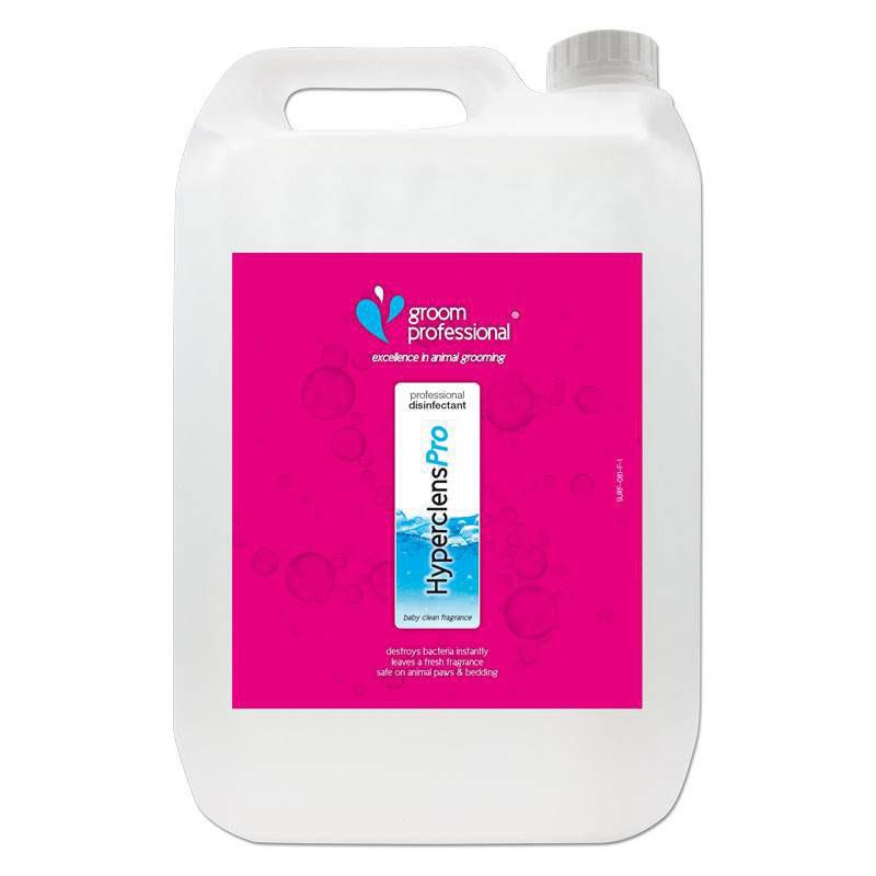 Groom Professional Hyperclens Pro Formula Baby Clean - środek o zapachu cytrynowym do czyszczenia i dezynfekcji sprzętu i pomieszczeń, koncentrat 1:50, 5l