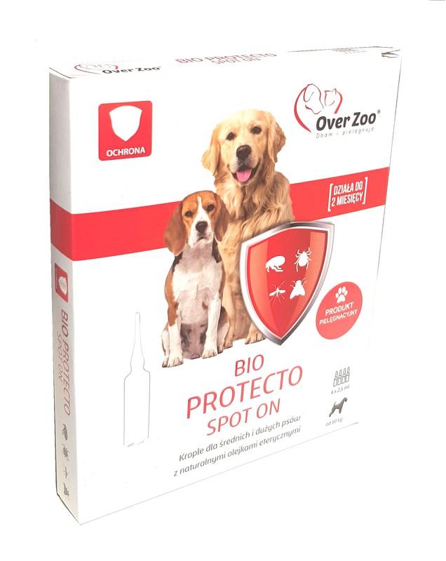 OVER ZOO Bio Protecto Spot On 4 x 2,5ml dla średnich i dużych psów