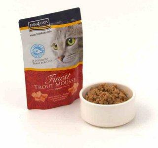 Fish4Cats Finest Trout Mousse mokra karma dla kota, saszetka 100g