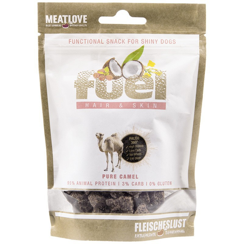 MEATLOVE Fuel Hair & Skin Minis 80g przysmak z wielbłąda dla psa